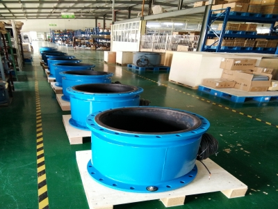 Busy Production and Delivery of Magnetic Flow Meters